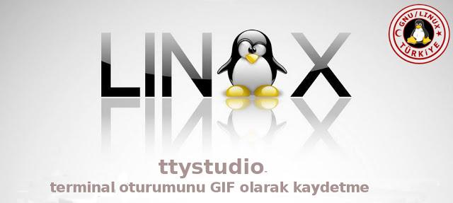 ttystudio- terminal oturumunu GIF olarak kaydetme