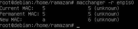 Linuxta MAC Adresi Nasıl Değiştirilir