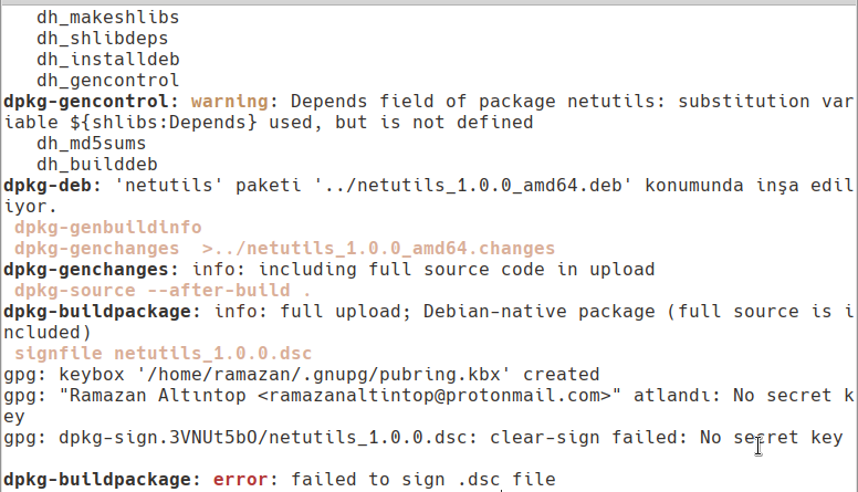 dh_make ile Debian Paketi Oluşturma