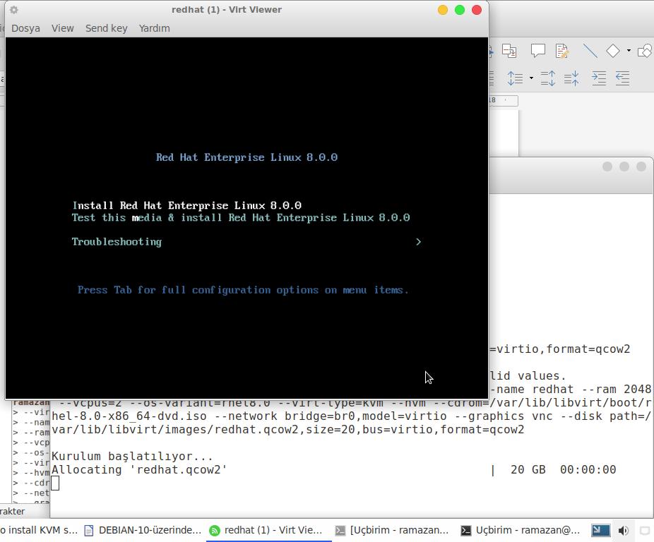 Debian 10 Buster üzerinde KVM Sunucusunun Kurulumu